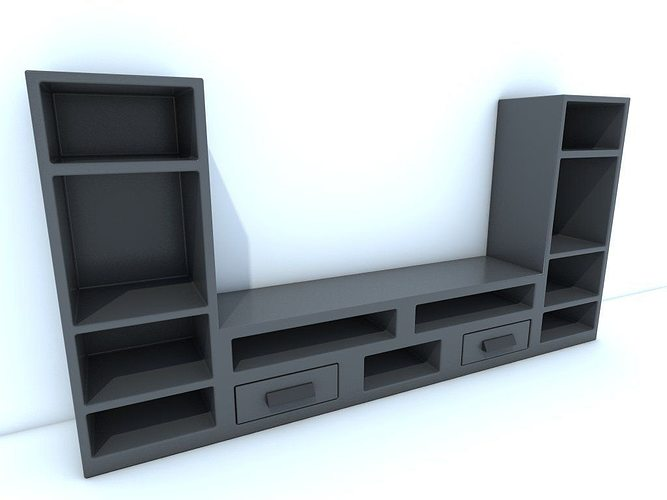 TV stand 3D model  CGTrader -> Modèle Table Tv