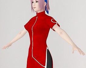 T pose nonrigged model of Sakura Haruno