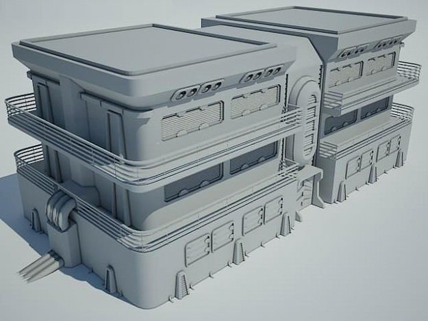 3d architectural futuristic sci fi building cgtrader for Futuristic household items