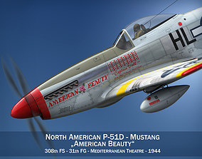 North American P-51D - American Beauty 3D model