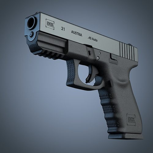 3d Gun Image 3d Home Architect: 3D Glock 21 Handgun