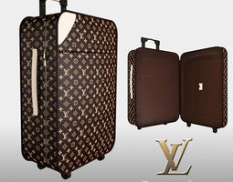 3d louis vuitton luggage bag