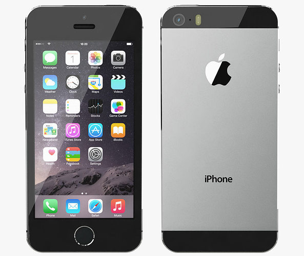 space grey iphone 5s 3d model apple iphone 5s space gray cgtrader 16163