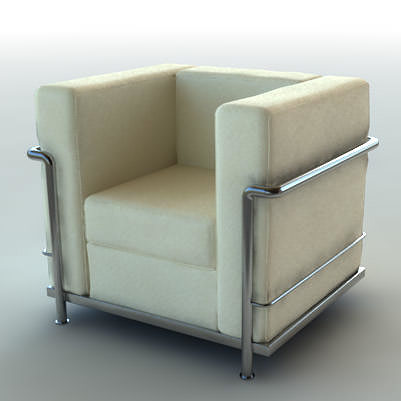 Le Corbusier chair 3D model CGTrader