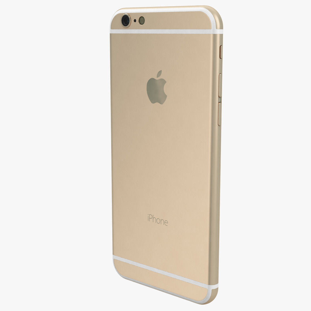 apple iphone 6 gold 3d model max obj cgtrader. Black Bedroom Furniture Sets. Home Design Ideas