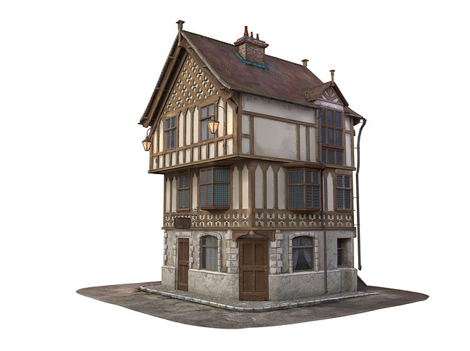 3d Medieval House Cgtrader: 3d model house design