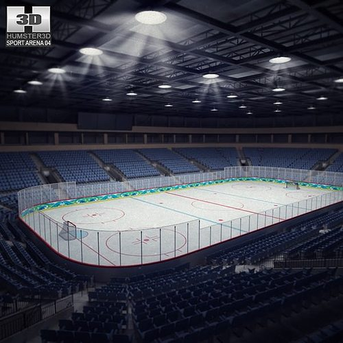 hockey arena 3d model max obj 3ds fbx c4d lwo lw lws 1