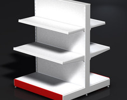 Small two sided store stand 3D