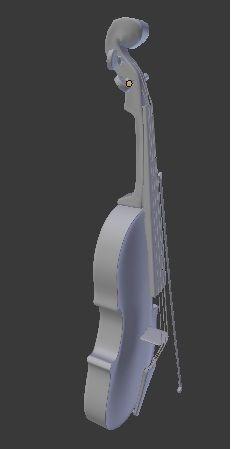 violin 3d model obj mtl 1