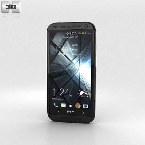 htc desire 601 black 3d model max obj mtl 3ds fbx c4d lwo lw lws 1