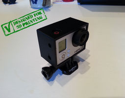 GoPro Hero 3 Frame For Back Pack 3D model
