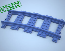 3d lego train track curved w support