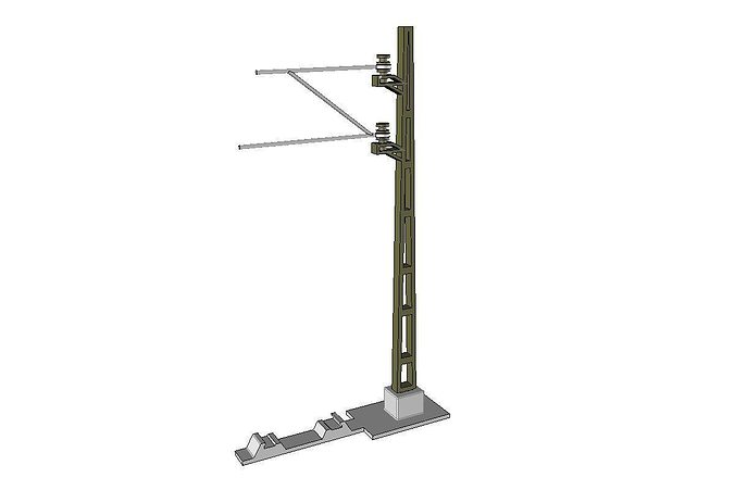 catenary mast for model railway 132 openrailway 3d model stl stp 1