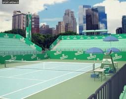 tennis arena 3d model max obj 3ds fbx c4d lwo lw lws