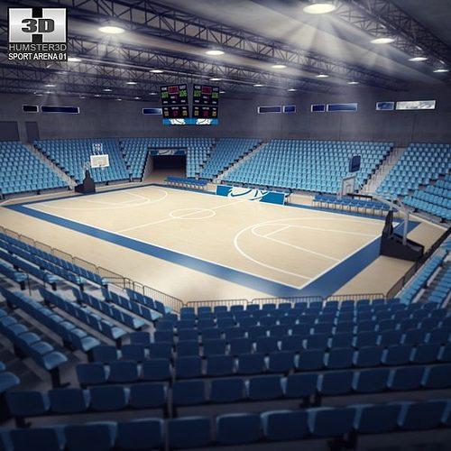 basketball arena 3d model max obj 3ds fbx c4d lwo lw lws 1