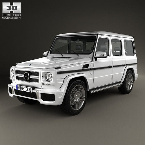 3d model mercedes benz g class 65 amg 2013 cgtrader for Mercedes benz g class models