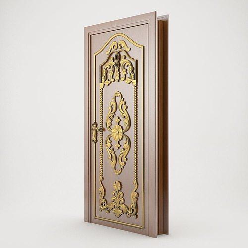 3d classic door cgtrader for Door 3d model