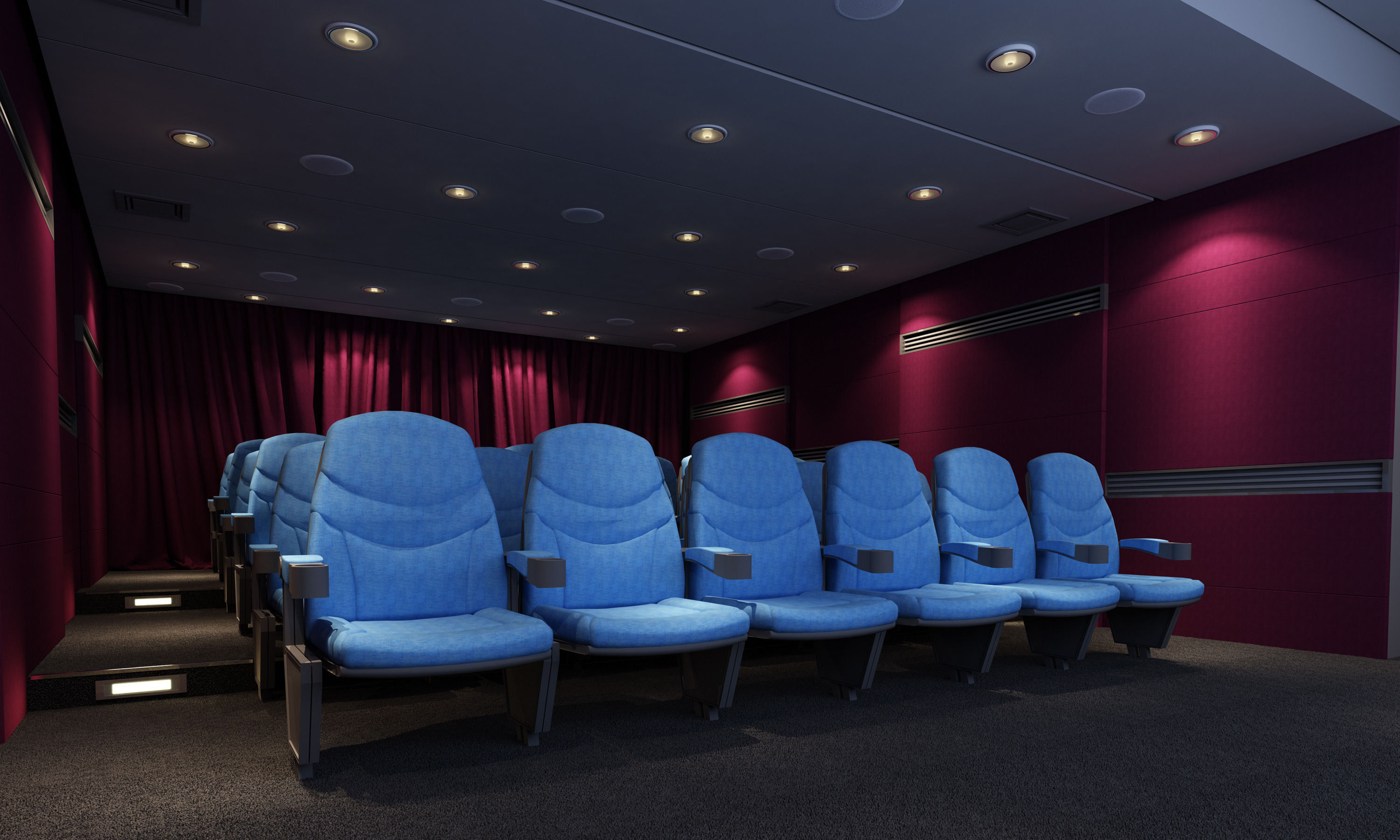 Best Buy Military Discount >> Mini cinema theatre 3D   CGTrader