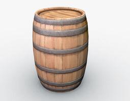 Barrel 3D model low-poly