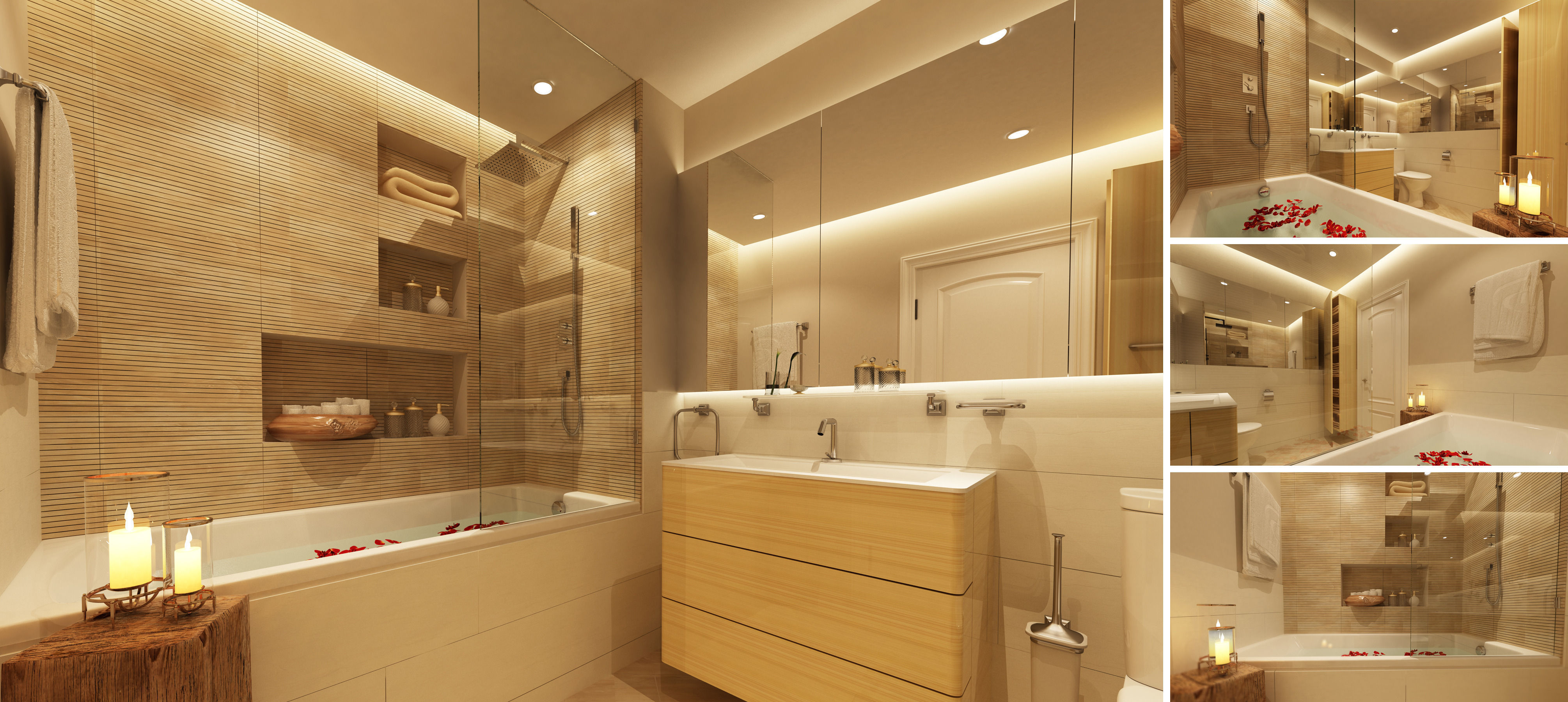 Master bathroom 3d model max for Bathroom models images