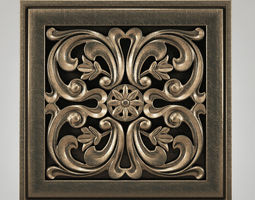 3D carving ornamen