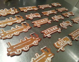 Train Set Cookie Cutters 3D printable model