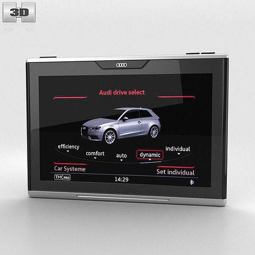 audi smart display 3d model max obj 3ds fbx c4d lwo lw lws 1