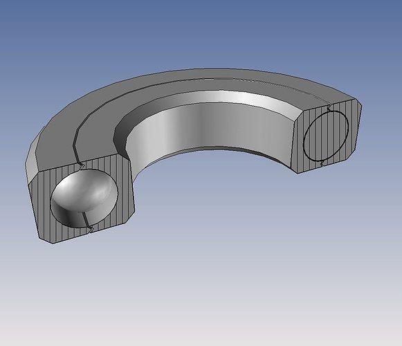 sealed ball bearing a challenge 3d model stl stp 3
