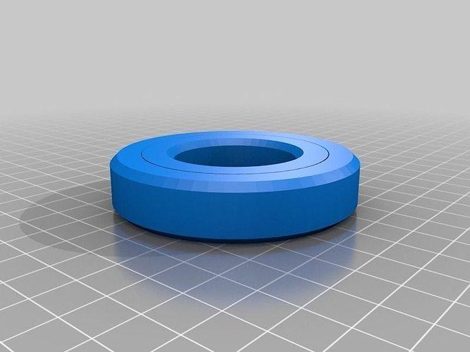 sealed ball bearing a challenge 3d model stl stp 2