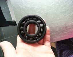 Fully Assembled Ball Bearing 3D printable model