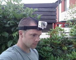 3D printable model GoPro Head Strap Mount 2