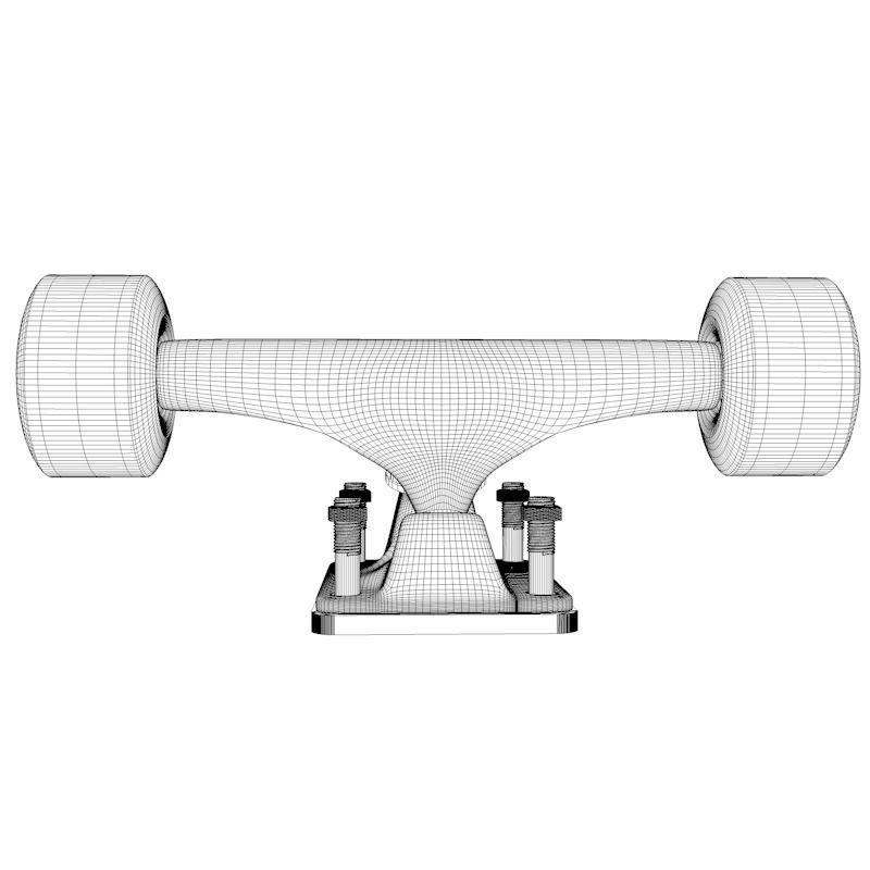Skateboard Truck with Wheels free 3D Model OBJ 3DS C4D DXF ...