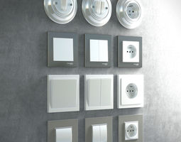 Socket and switches pack 3D