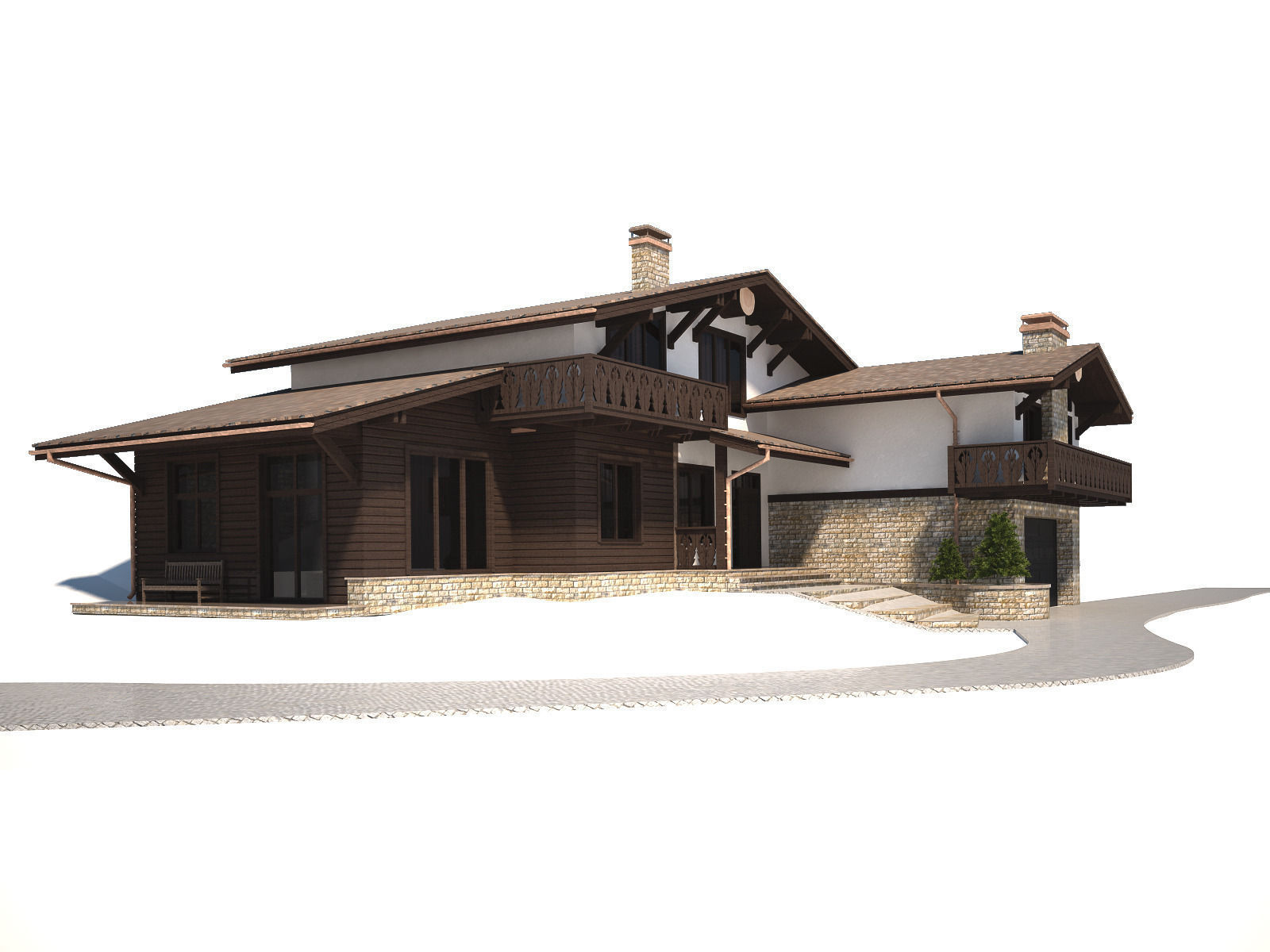 Cottage house 3d model max for 3d max house model