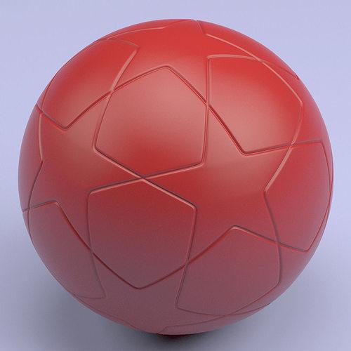 championship soccerball stl 3d model obj mtl stl 1