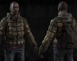realtime 3d model black man sur