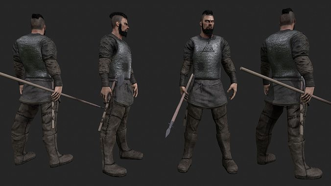 Realistic viking model