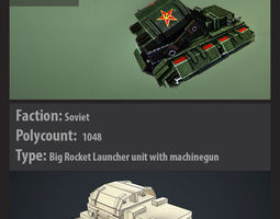 red alert soviet style tank with animation v001 3d model max