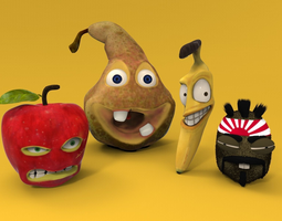 3D model Funny Fruits