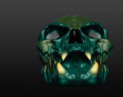 3D Skull evil looking