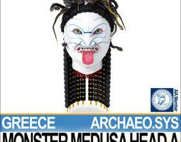 3D model Ancient Greek Monster Medusa Head A