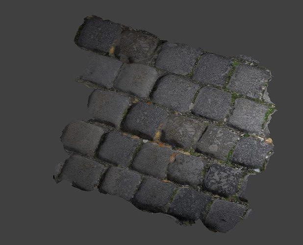 tiles photoscaned 3d model low-poly obj mtl 3ds fbx blend dae 1