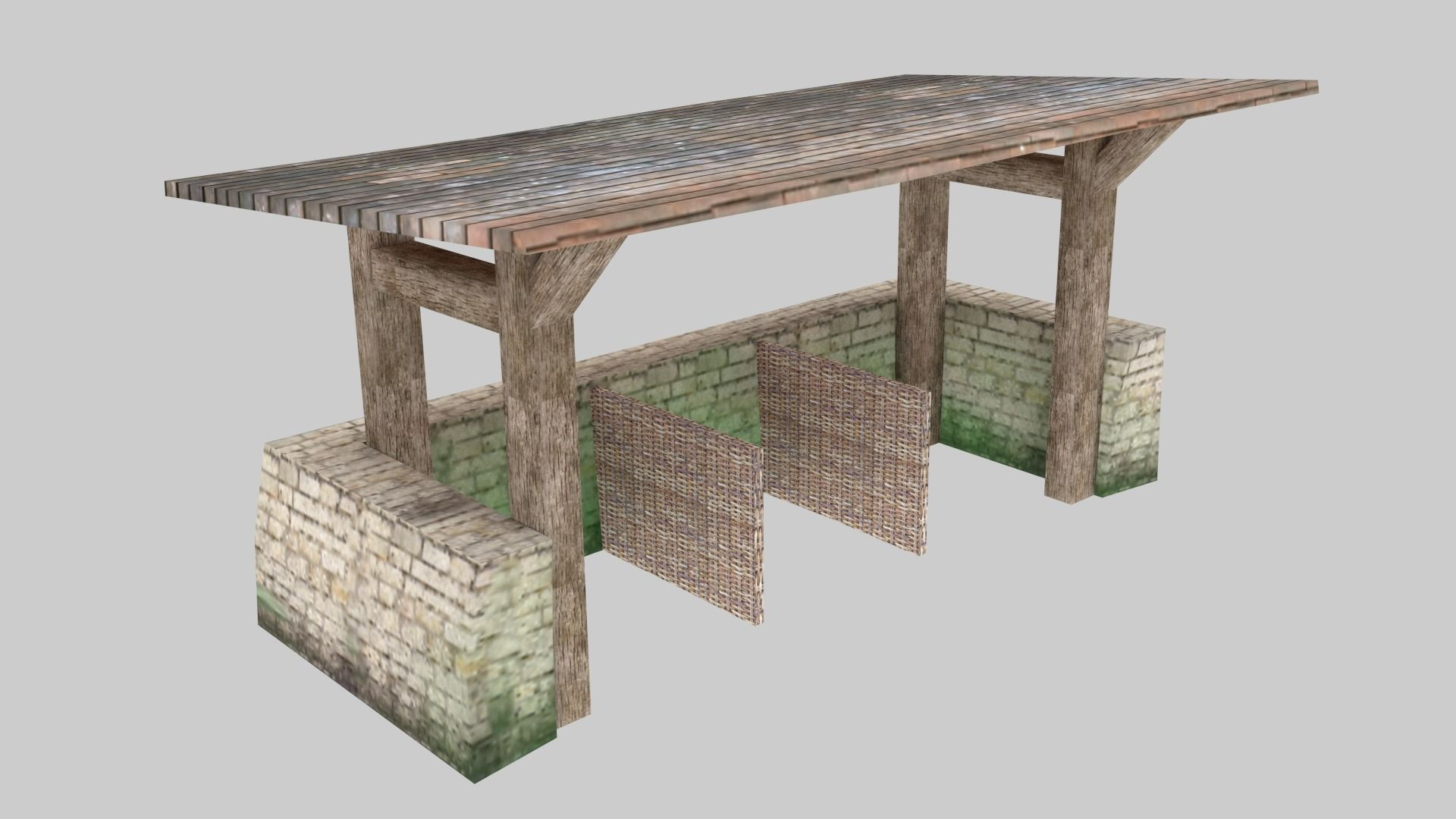 Medieval stable low poly 3D asset   CGTrader for Medieval Stable  584dqh