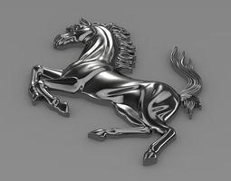 ferrari  horse logo 3d model max obj 3ds fbx c4d lwo lw lws