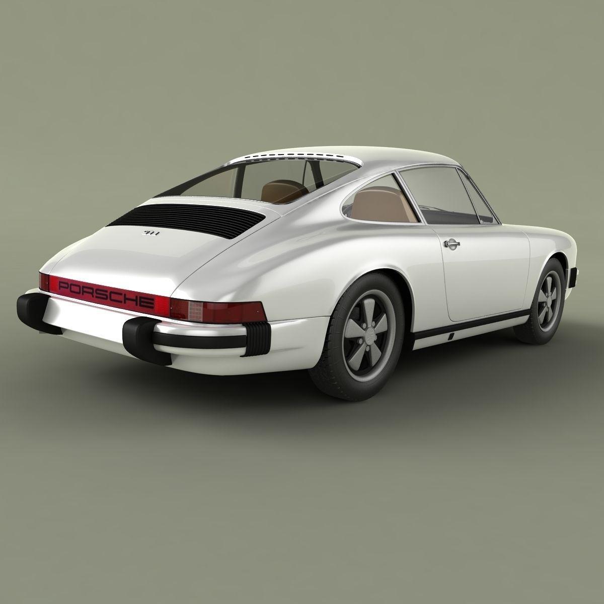 porsche 911 1974 3d model max obj. Black Bedroom Furniture Sets. Home Design Ideas