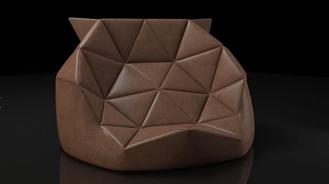 Marie Bean Bag 3d Model Cgtrader