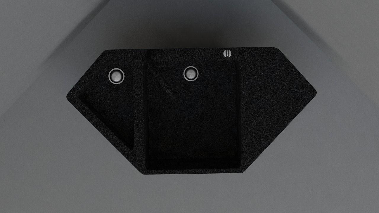 Granite Corner Kitchen Sink Model Obj S Fbx C4d Dae 2