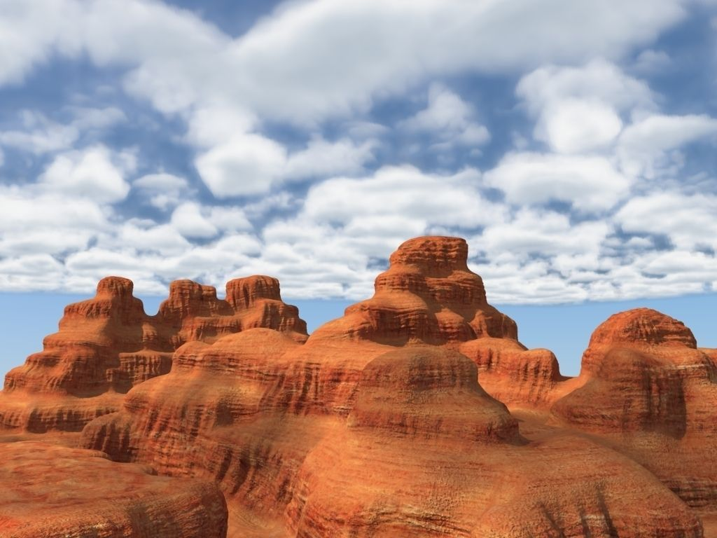 3d model canyon landscape with cloudy sky   cgtrader