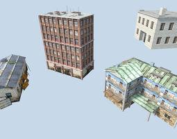 industrial buildings pack 3D model