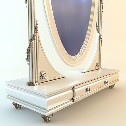 Floor mirror 3d model max obj 3ds fbx mtl for Mirror 3d model